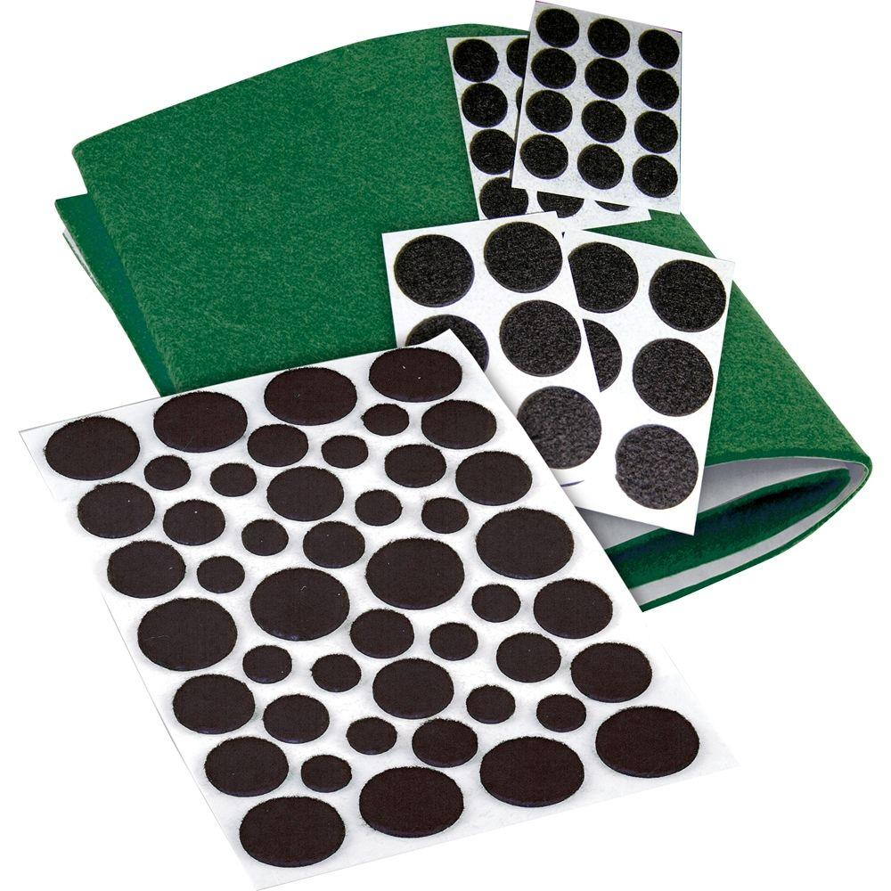 Assorted Self-Adhesive Felt Pads (83-Pack)