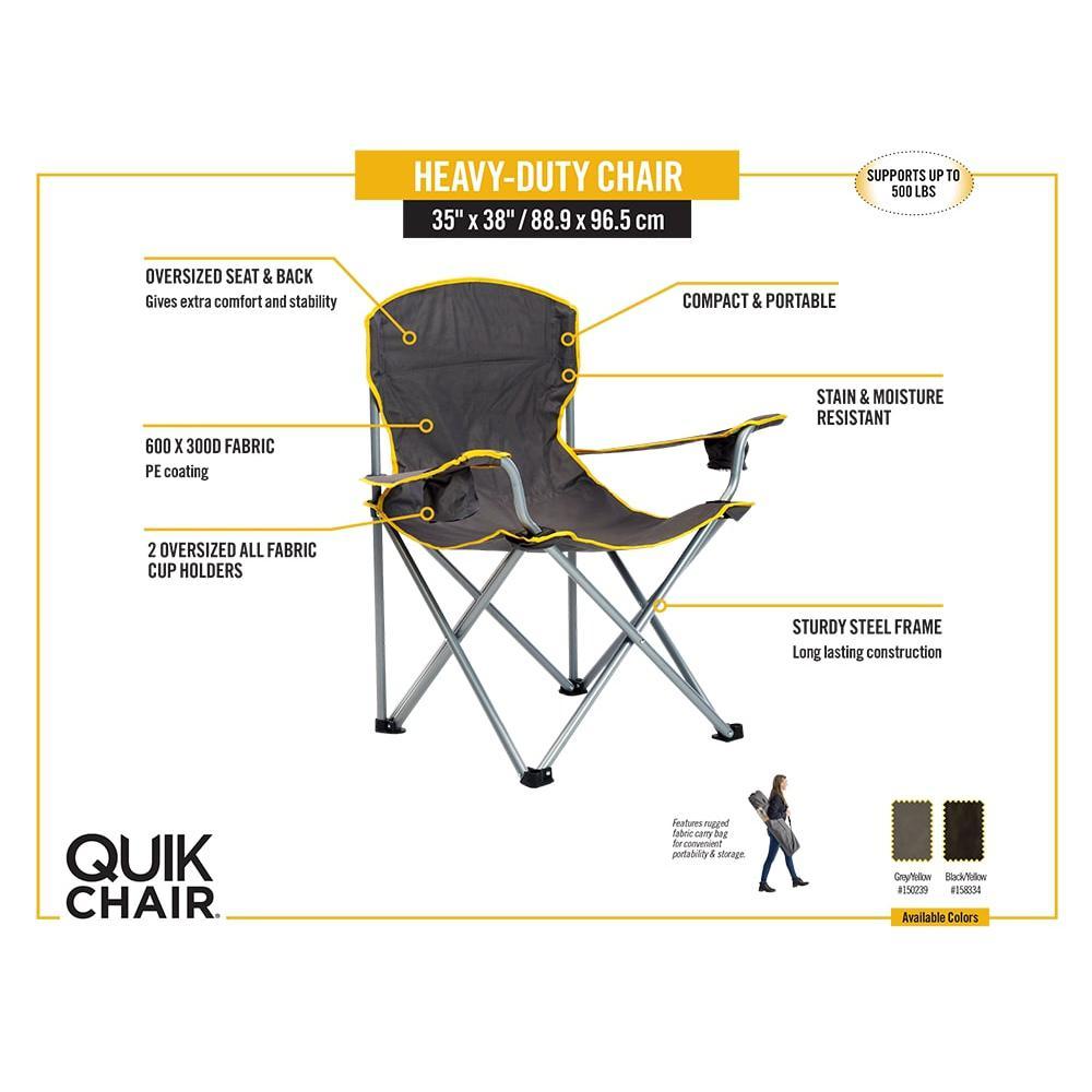 Remarkable Quik Chair Black Heavy Duty Chair Creativecarmelina Interior Chair Design Creativecarmelinacom