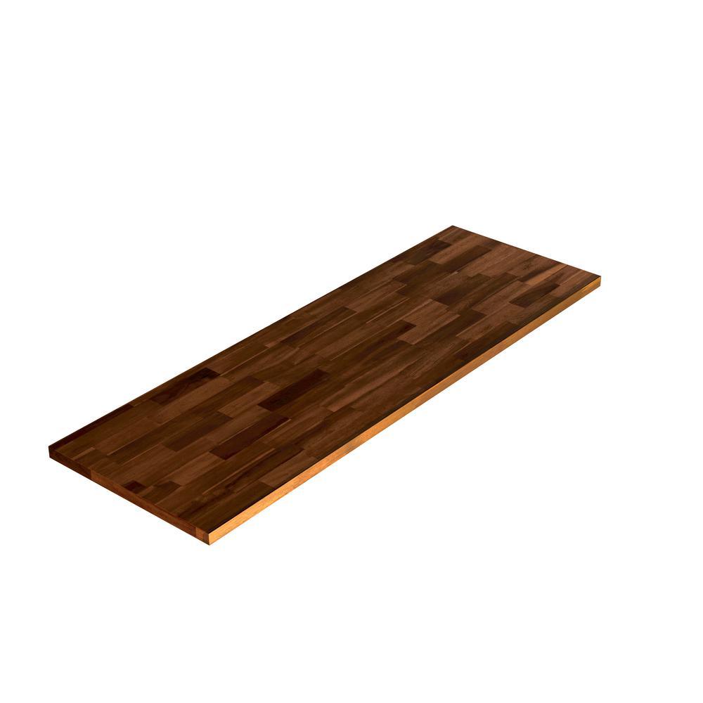 3/4 in. x 12 in. x 3 ft. Acacia Appearance Board, Espresso