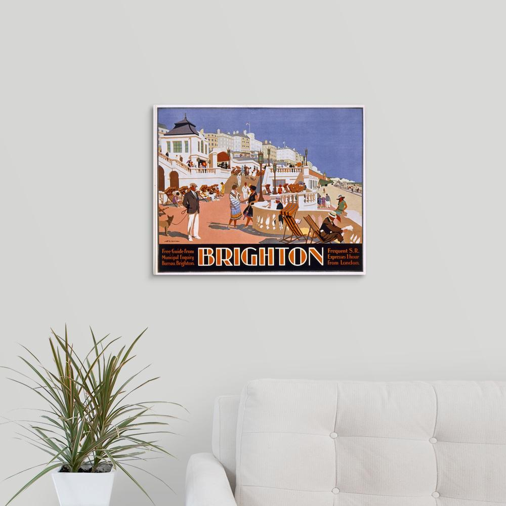 Greatbigcanvas poster advertising travel to brighton by henry 1879 1941 gawthorn