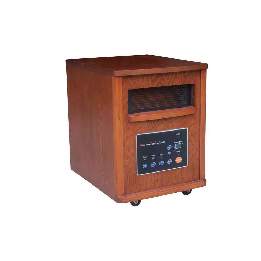 ATI Cyclone Infrared Quartz Portable Heater with Air Purifier - Oak-DISCONTINUED