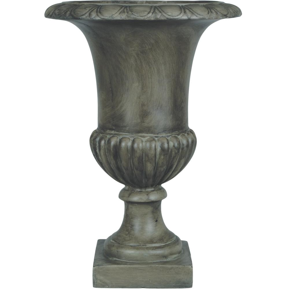 Pride Garden Products Origins Classic 20 In. Pewter Tall Urn Planter