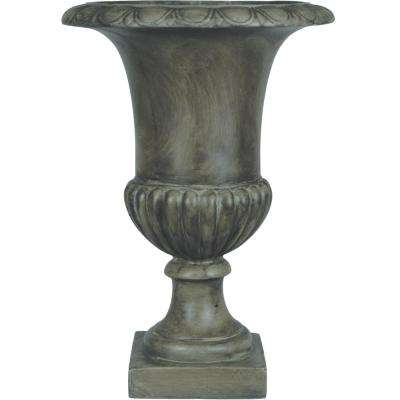 Origins Classic 20 in. Pewter Tall Urn Planter