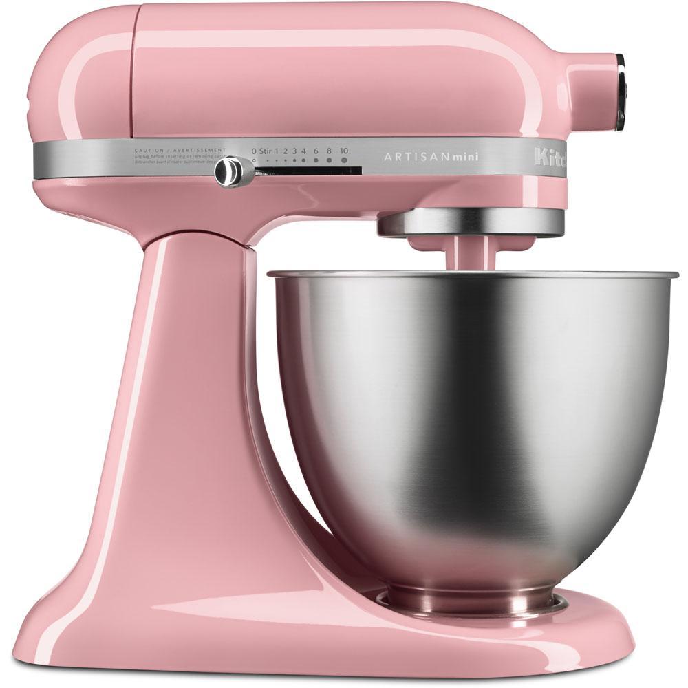 Kitchenaid Artisan Mini 3 5 Qt Tilt Head Guava Glaze Stand Mixer Ksm3311xgu The Home Depot