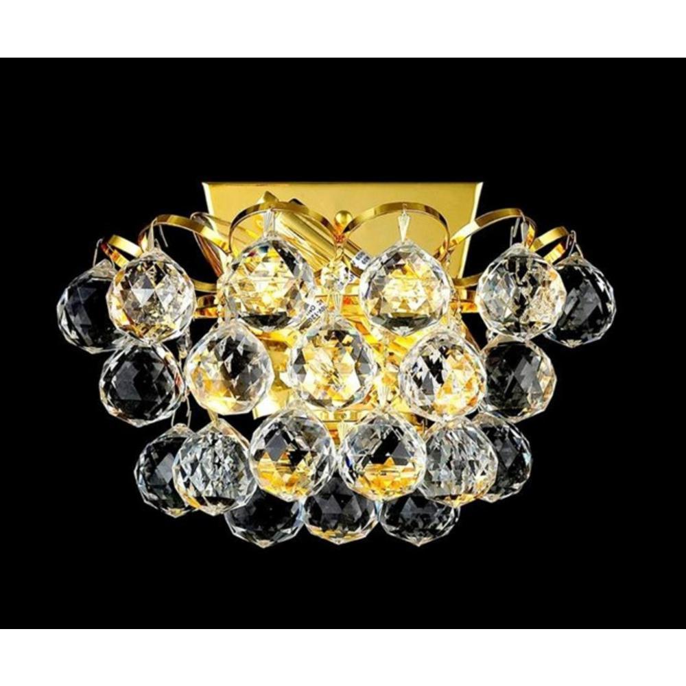 Glimmer 2-Light Gold Sconce