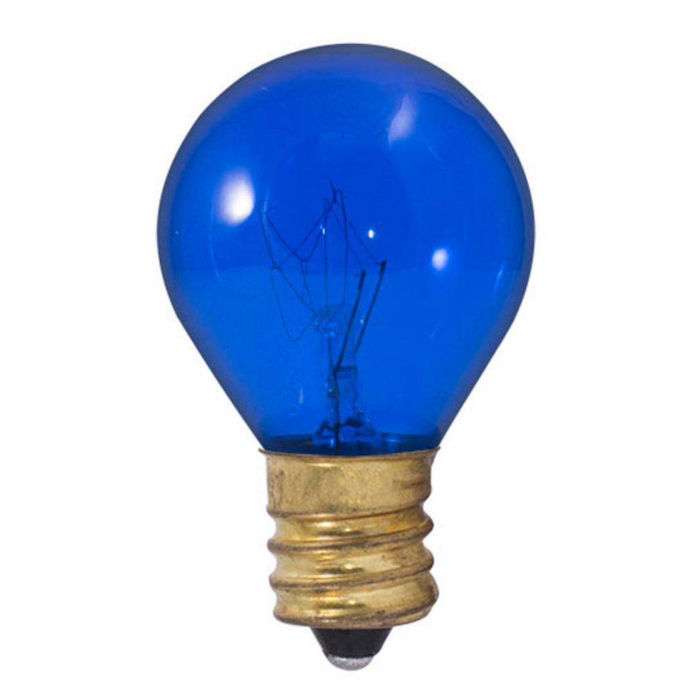 10-Watt S11 Transparent Blue Dimmable Incandescent Light Bulb (25-Pack)