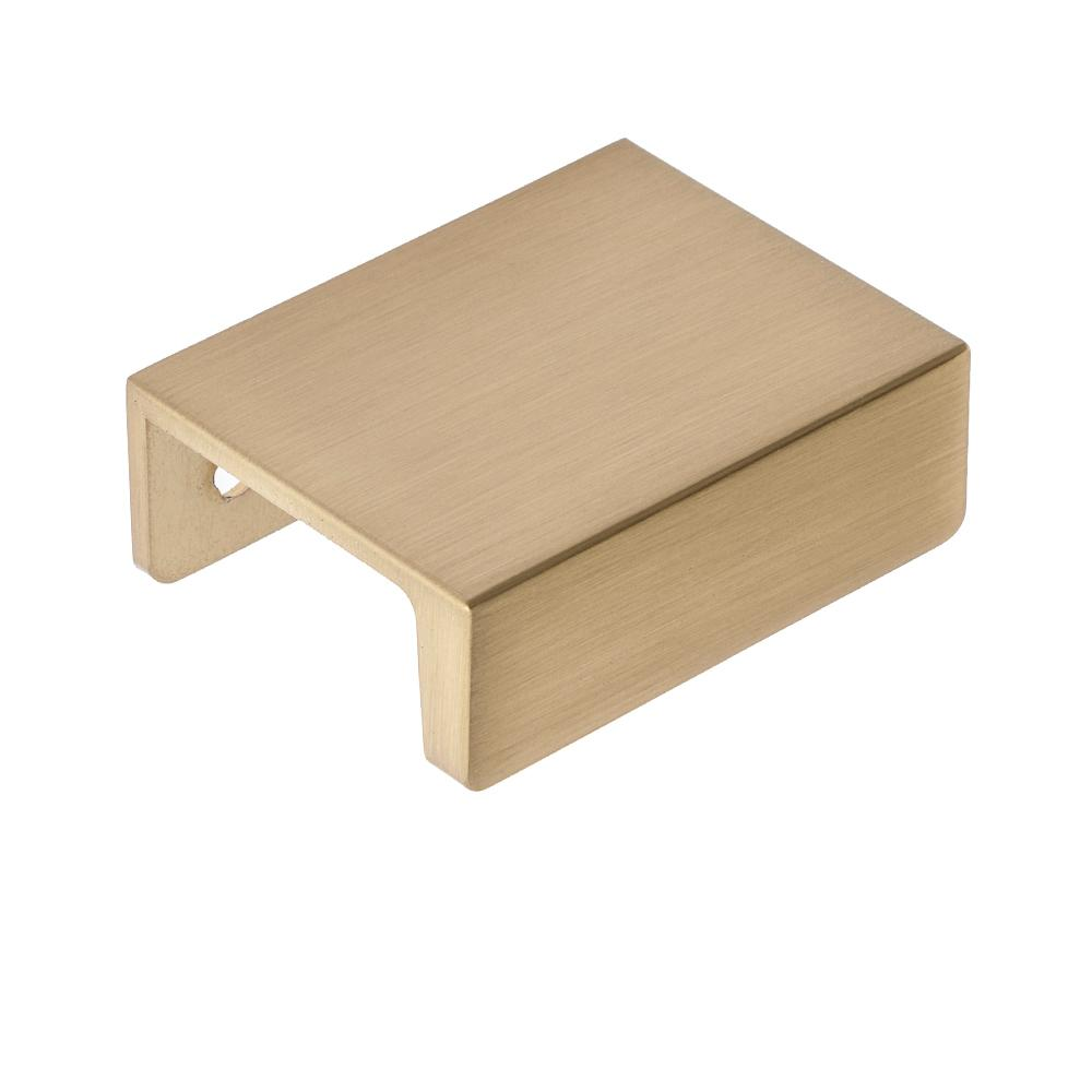 Sumner Street Home Hardware Martin 1-1/4 in. Center-to-Center Satin Brass Drawer Lip Pull