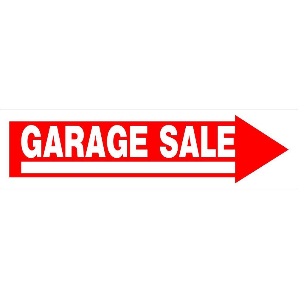 plastic garage sale sign