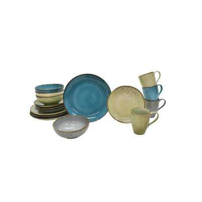 Speckled 16-Piece Multi Dinnerware Set
