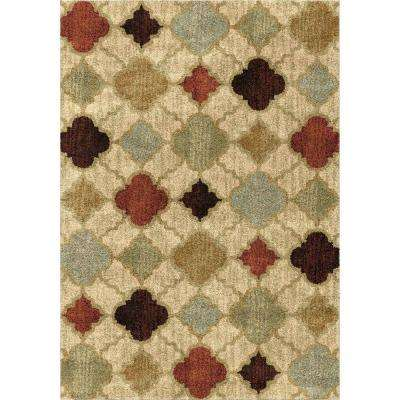 Formosa Multi 8 ft. x 11 ft. Dense Pile Geometric Indoor Area Rug