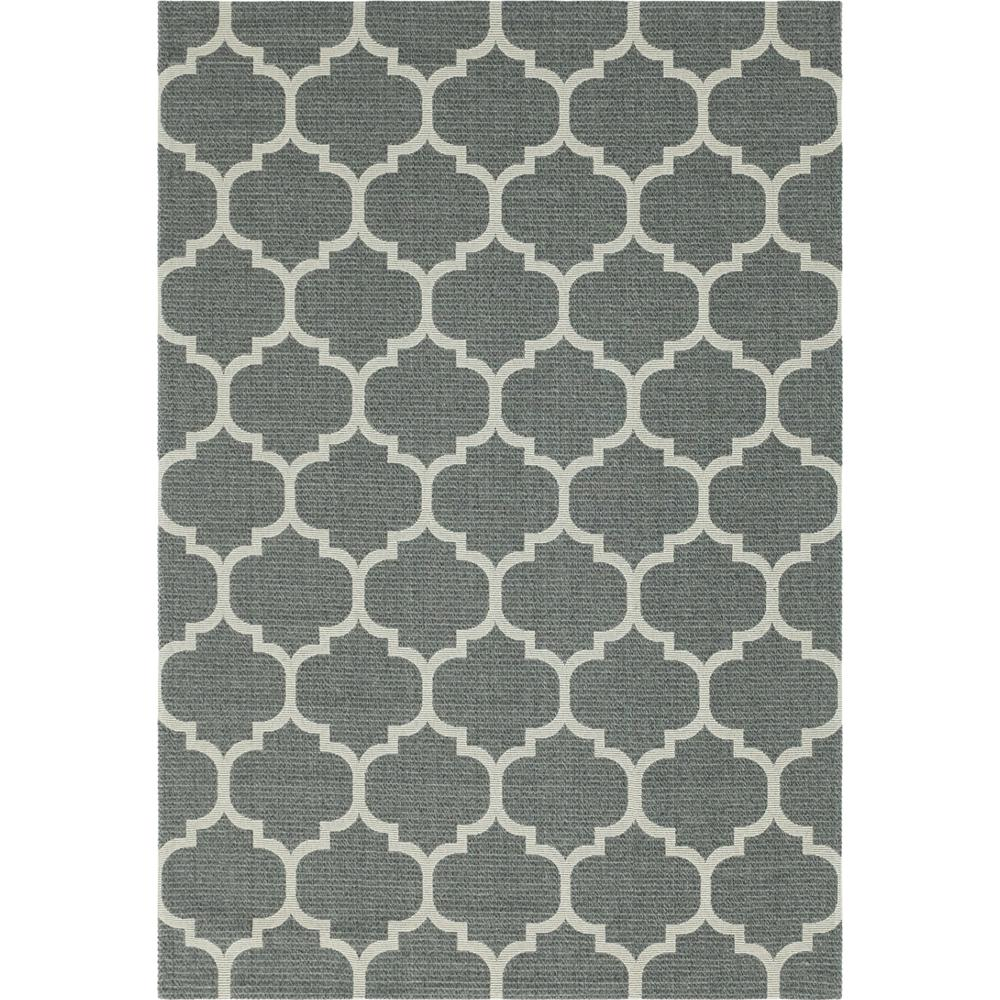 Unique Loom Decatur Trellis Dark Gray Ivory 6 Ft 4 In X 9 Ft Area Rug 3148021 The Home Depot