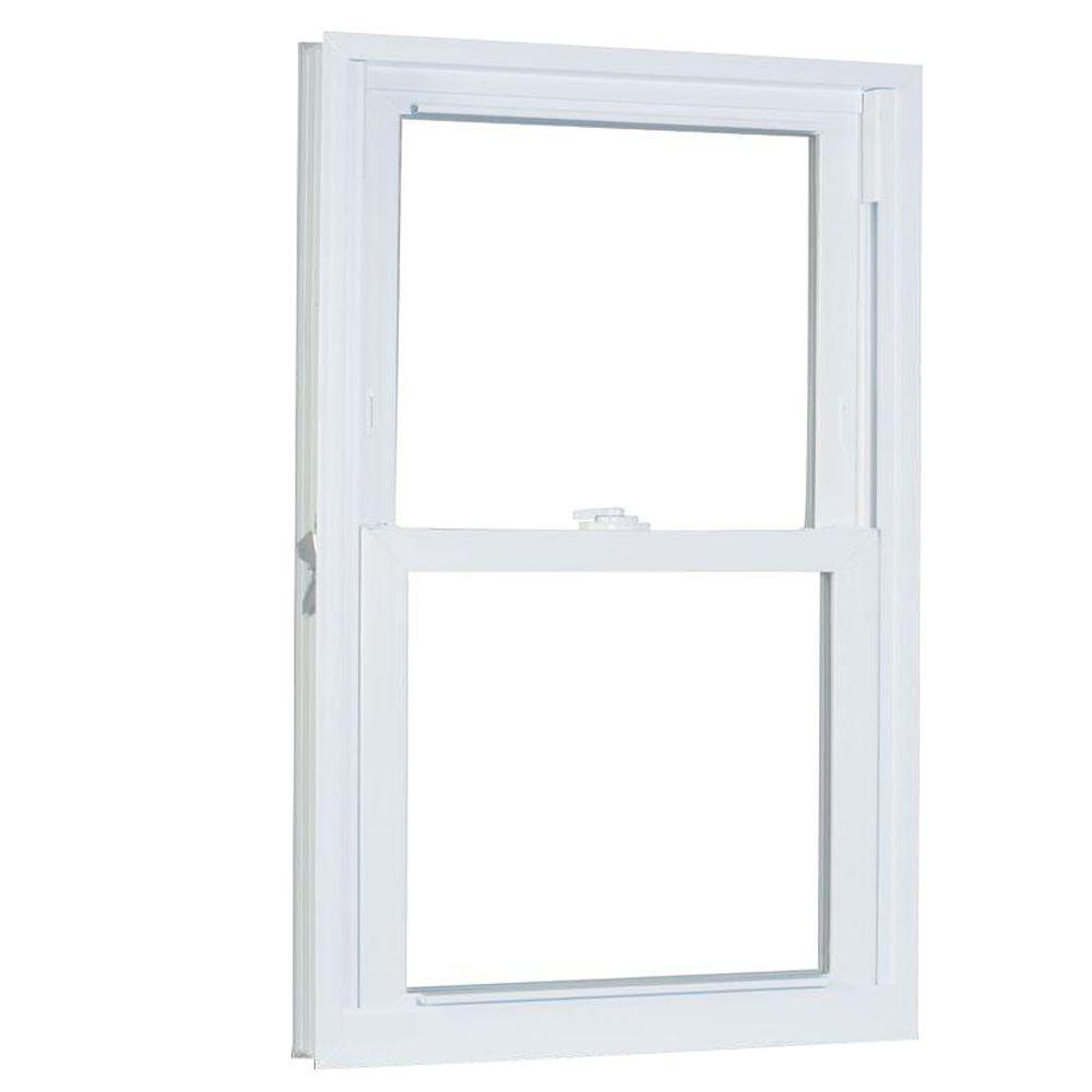 American Craftsman 31.75 in. x 53.25 in. 70 Series Pro Double Hung White Buck Vinyl Window