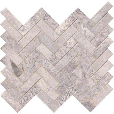 Mosaic tile tile the home depot silver travertine herringbone ppazfo