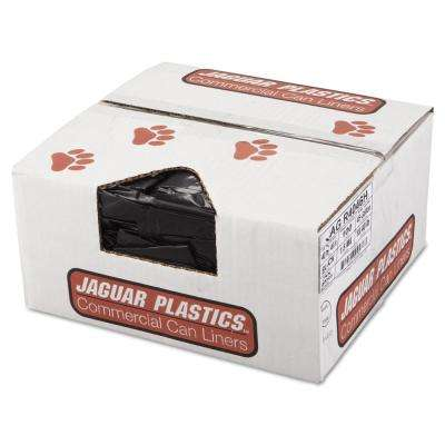 45 Gal. Black Repro Low-Density Can Liners (10 Bags/Roll, 10-Rolls/Carton)