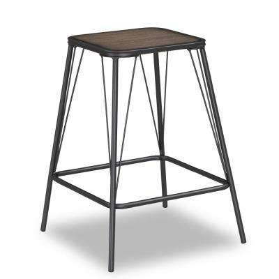 Trevan 24 in. Grey Backless Counter Stool