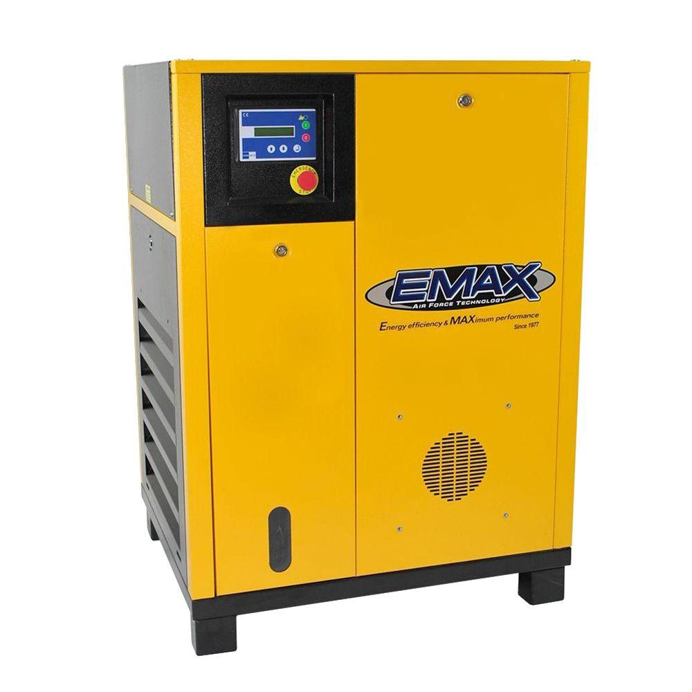 EMAX Premium Series 15 HP 230-Volt 3-Phase Stationary Electric Variable Speed Rotary Screw Air Compressor