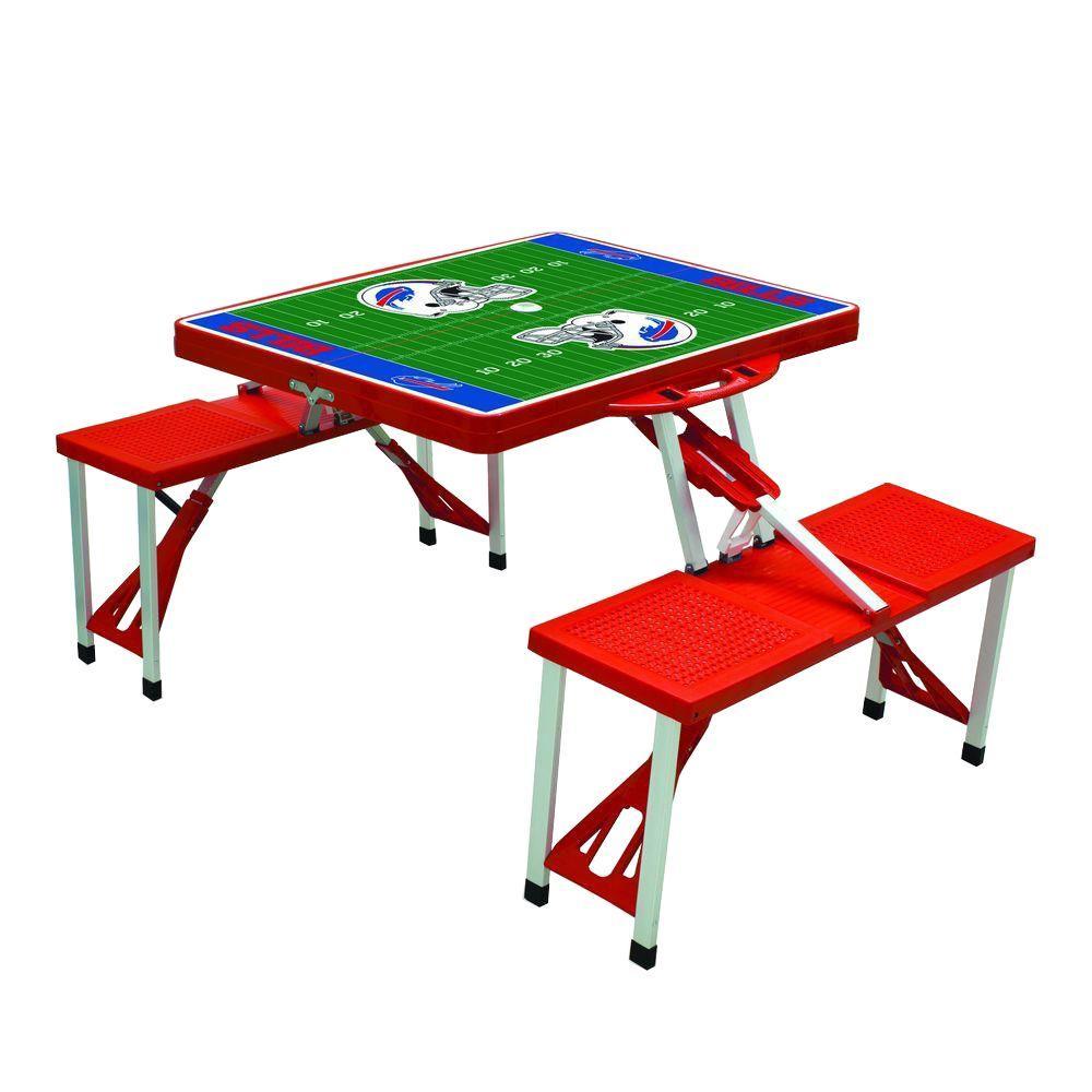 Buffalo Bills Sport Plastic Outdoor Patio Picnic Table