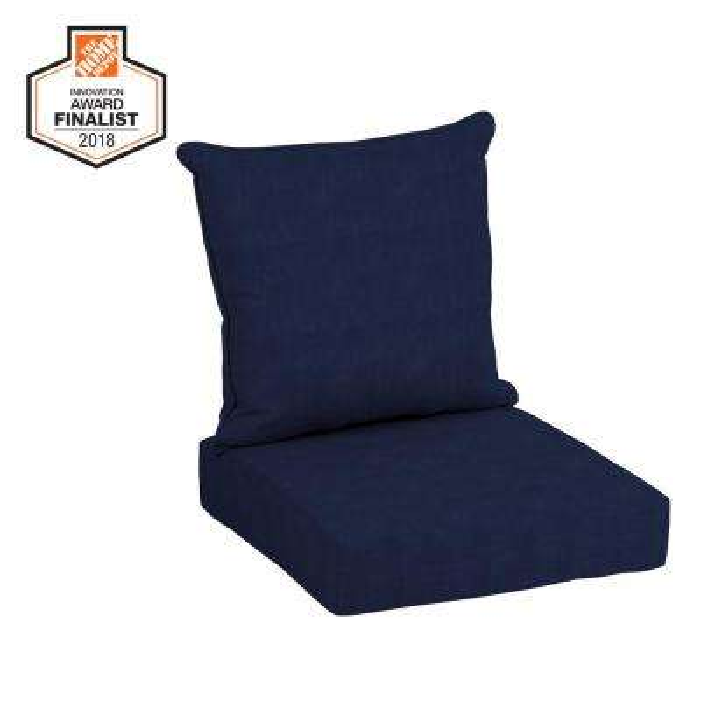 CushionGuard Midnight 2-Piece Deep Seating Outdoor Lounge Chair Cushion