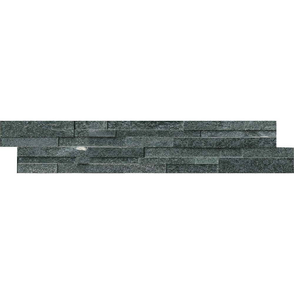 Coal Canyon 3D Ledger Panel 6 in. x 24 in. Honed