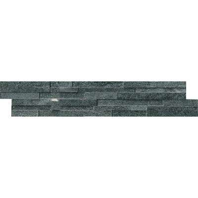 Coal Canyon 3D Ledger Panel 6 in. x 24 in. Honed Quartzite Wall Tile (10 cases / 60 sq. ft. / pallet)