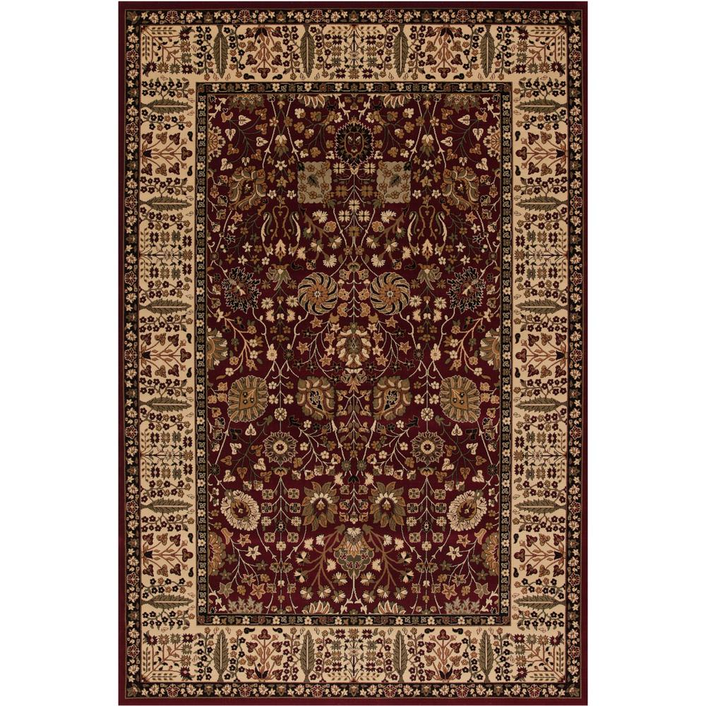 Persian Classics Vase Red 3 ft. 11 in. x 5 ft. 7 in. Area Rug