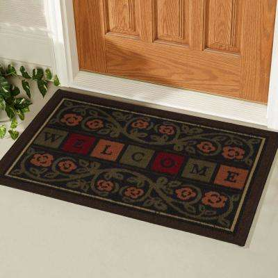 Welcome Multi 20 in. x 30 in. Non-Slip Door Mat