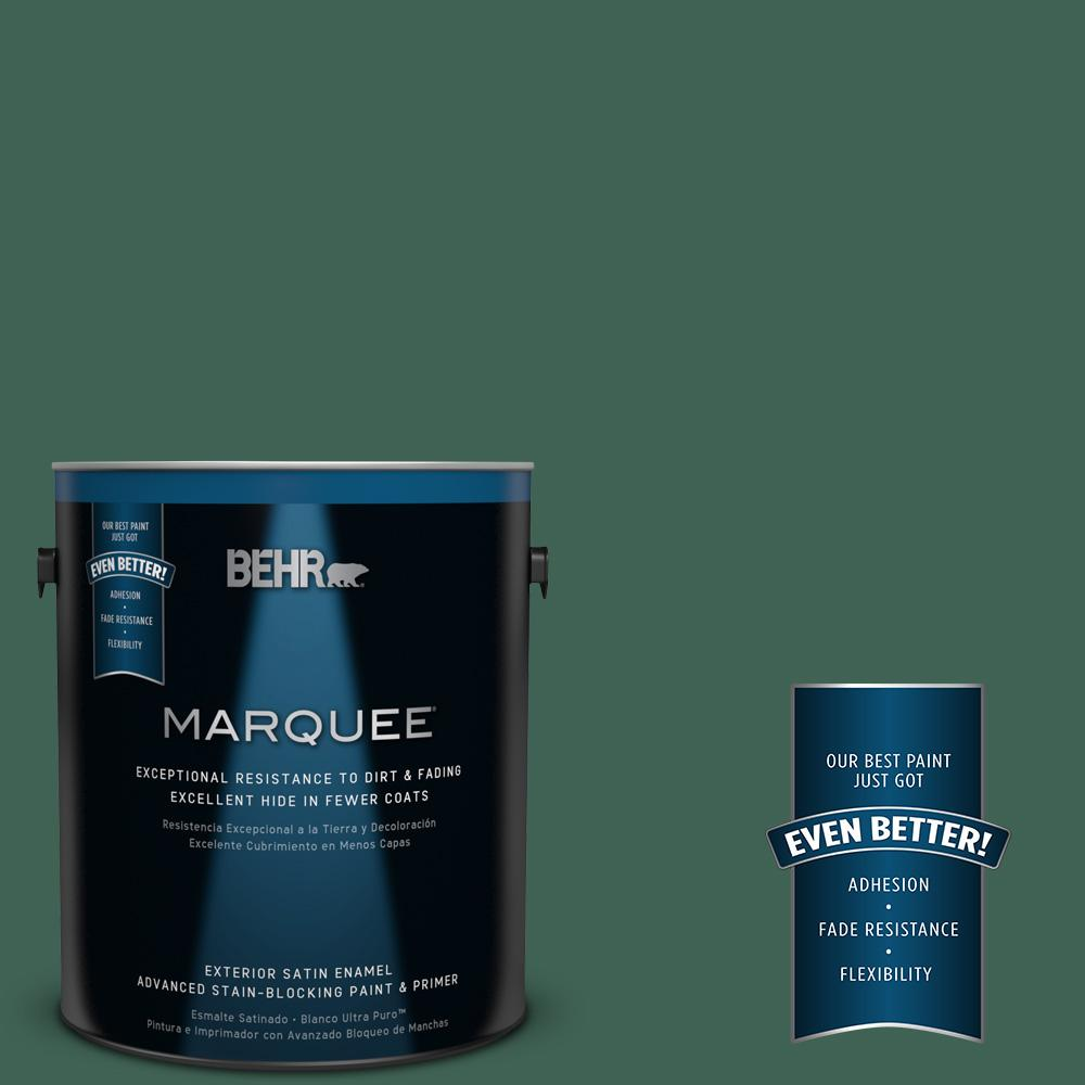 BEHR MARQUEE 1-gal. #M430-7 Green Agate Satin Enamel Exterior Paint