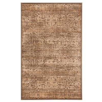 Martha Stewart Soft Anthracite/Camel 2 ft. 7 in. X 4 ft. Area Rug