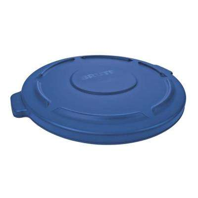 Brute 32 Gal. Blue Round Vented Trash Can Lid