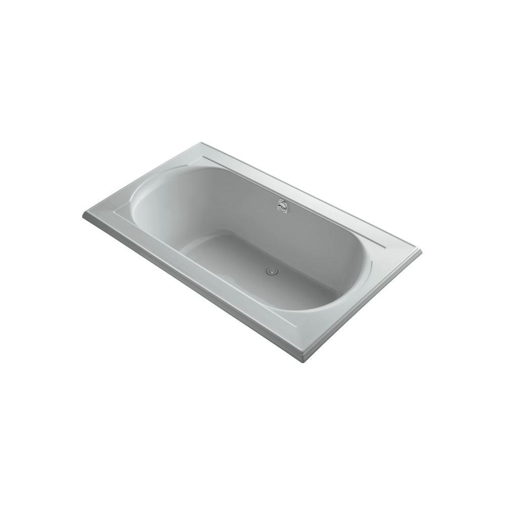 KOHLER Memoirs 6 ft. Center Drain Bathtub in Ice Grey