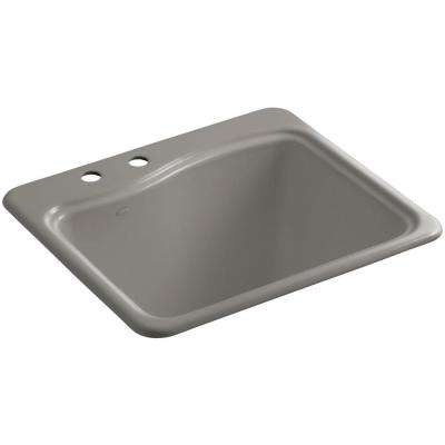 River Falls 22 in. x 25 in. Cast Iron Utility Sink in Cashmere