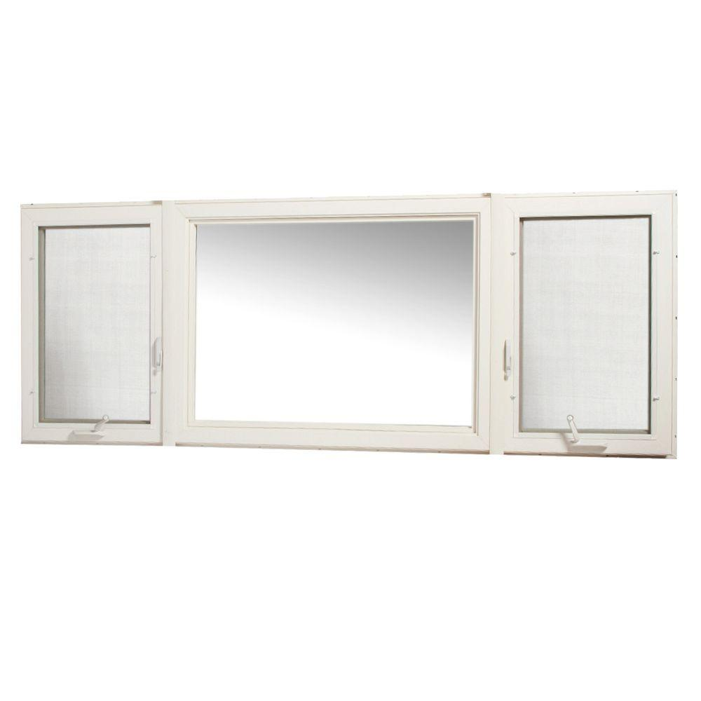 Tafco windows 95 in x 36 in vinyl casement window with for Vinyl home windows