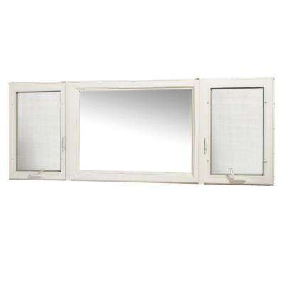 95 in. x 36 in. Vinyl Casement Window with Screen - White