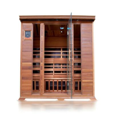 HL400K Sequioa 4-Person Cedar Infrared Sauna - Radiant Sauna 2-Person Cedar Infrared Sauna With 6 Carbon Heaters