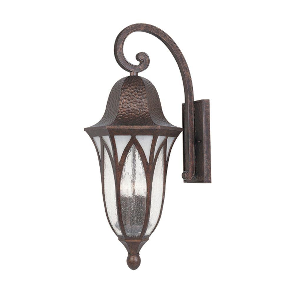 Designers Fountain Charleston 4-Light Burnished Antique Copper Outdoor Wall-Mount Lantern