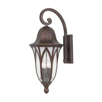 Charleston 4-Light Burnished Antique Copper Outdoor Wall-Mount Lantern