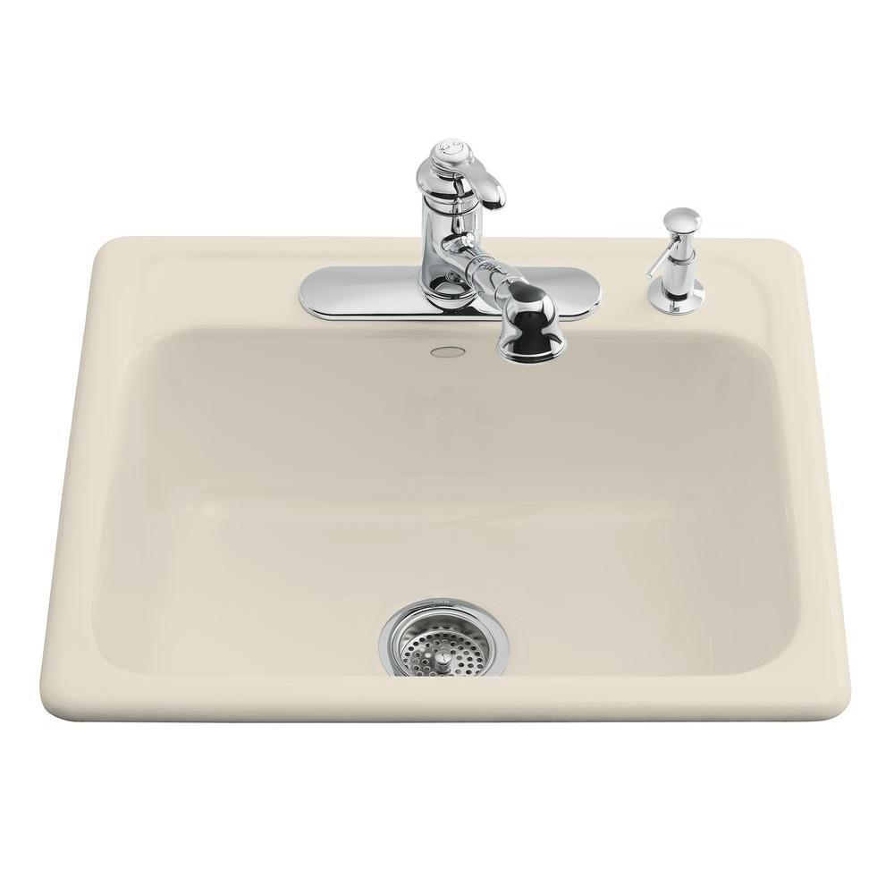 4hole single basin kitchen - Kohler Kitchen Sinks