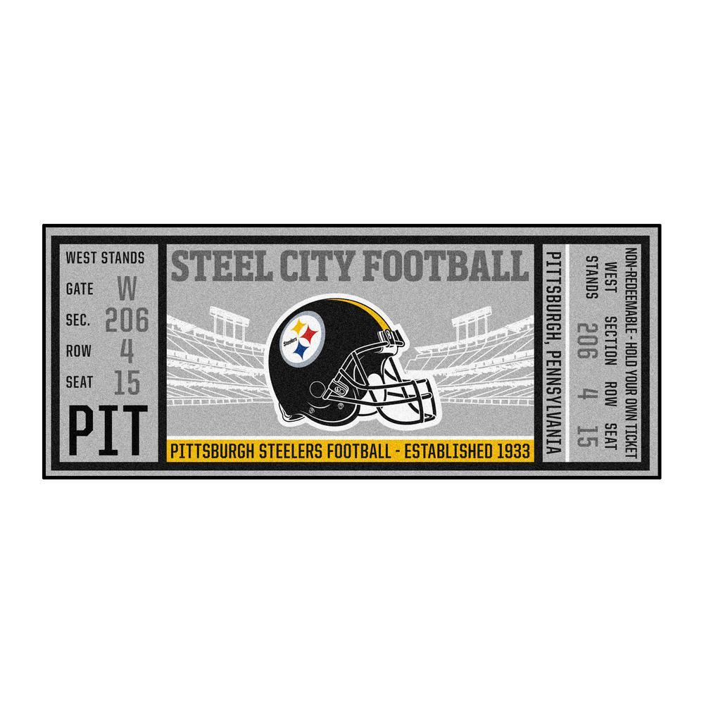 NFL - Pittsburgh Steelers 30 in. x 72 in. Indoor Ticket Runner Rug