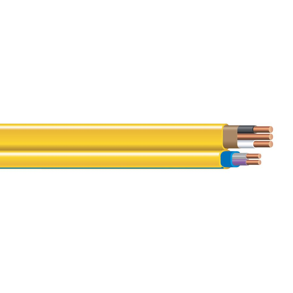 Southwire 1000 Ft 12 2 Yellow Solid Romex Simpull Nm B Pcs Duo Cable 67962802 The Home Depot