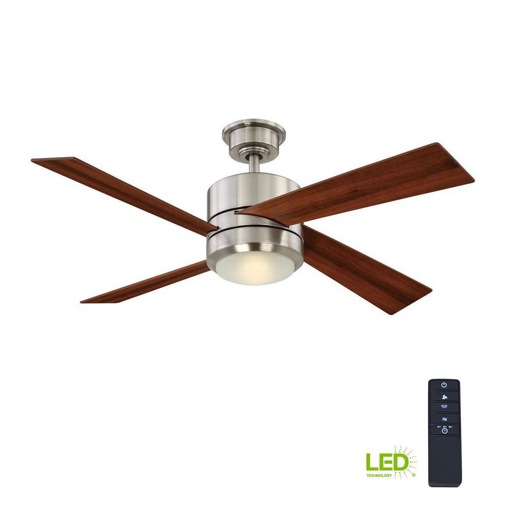 Home Decorators Collection Healy 48 In Led Indoor Brushed Nickel Ceiling Fan