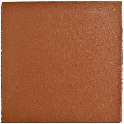 Klinker Red 5-7/8 in. x 5-7/8 in. Ceramic Bullnose Floor and Wall Quarry Tile