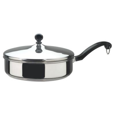Classic Series 8 in. Stainless Steel Nonstick Frying Pan with Glass Lid