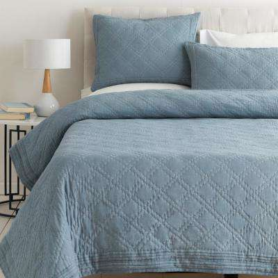 Milena Blue King/CA King Duvet Set