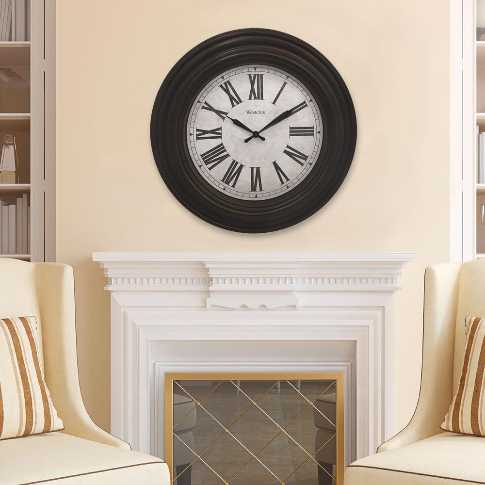 20 in. Dark Brown Wall Clock