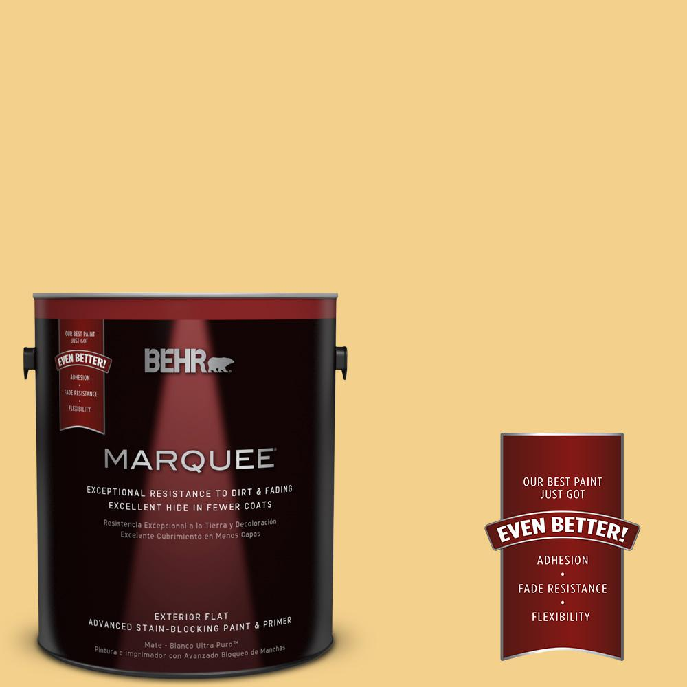 BEHR MARQUEE 1-gal. #360D-4 Warm Glow Flat Exterior Paint