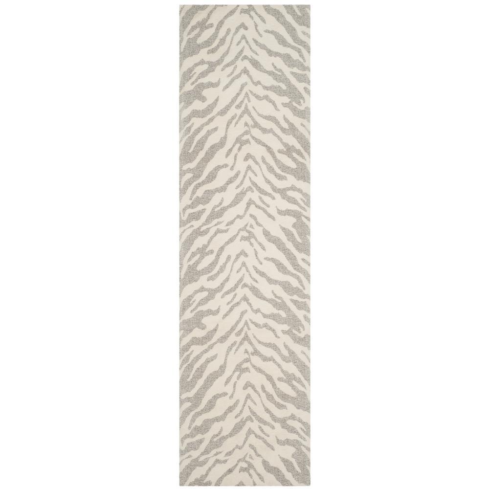 Marbella Light Gray/Ivory 2 ft. 3 in. x 6 ft. Runner Rug