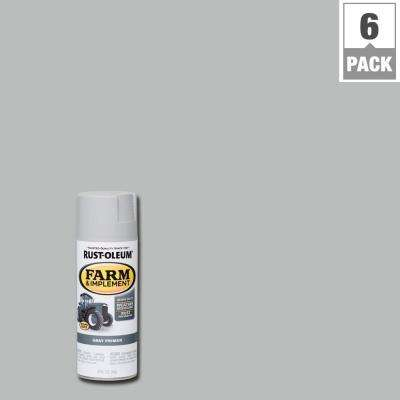 12 oz. Farm and Implement Gray Primer Spray Paint (6-Pack)