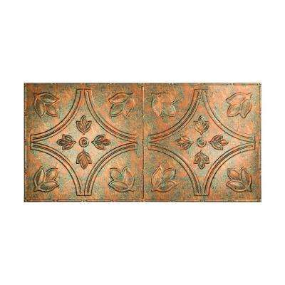 Traditional 5 - 2 ft. x 4 ft. Glue-up Ceiling Tile in Copper Fantasy