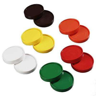Replacement Lid Only for Stor 'N Pour Pouring System, Fits All Sized Containers (Case of 12-2 Each of 6 Colors)