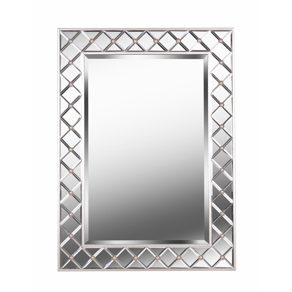 Quill Mirror Rectangular Champagne Wall Mirror